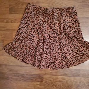 The Limited Leopard Print Mini Skirt